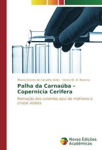Palha da Carnaúba - Copernicia Cerifera: Remoção dos corantes azul de metileno e cristal violeta