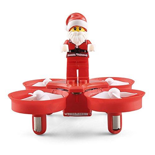 LXWM Drone RC Flying Santa Claus Canciones De Navidad 2.4G Control Remoto Mini Modo Sin Cabeza Música Drone Juguetes RTF para Niños Mejor Regalo