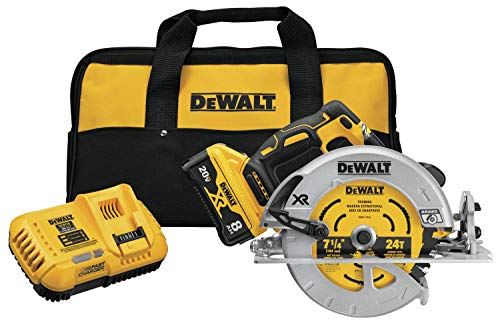 DEWALT 20V MAX XR Circular Saw, 7-1/4-Inch, Brushless, Power Detect Tool Technology (DCG418X2)