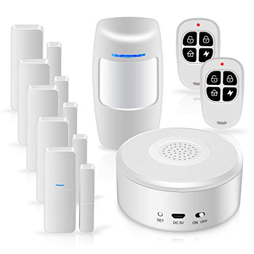Smart Security System WiFi Alarm System Kit, with APP Push and Calling Alarms, DIY No Monthly Fee for Home Apartment Office Store and Business