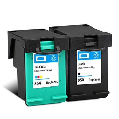 Cartucho de tinta remanufacturado de alto rendimiento para HP850 854, para impresora Deskjet 5420 5432 5440 5442 5443 PSC 1507 1510 1513 1* negro 1* color