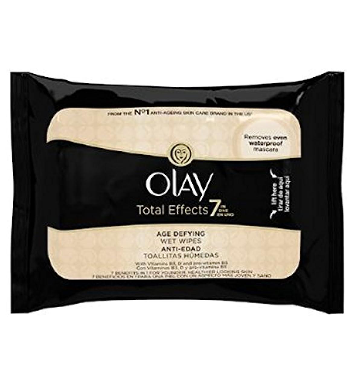 インフレーション普遍的な拳オーレイトータルエフェクト?7In1のウェットティッシュの20代の年齢に挑みます (Olay) (x2) - Olay Total Effects 7in1 Age-Defying Wet Wipes 20s (Pack of 2) [並行輸入品]