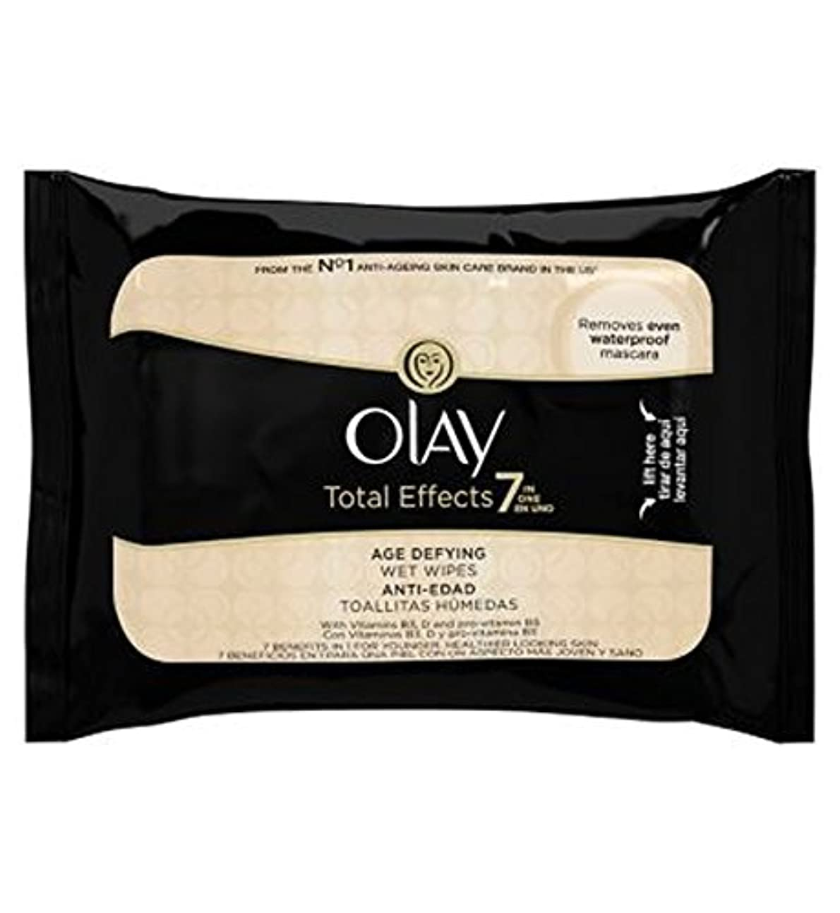 Olay Total Effects 7in1 Age-Defying Wet Wipes 20s - オーレイトータルエフェクト?7In1のウェットティッシュの20代の年齢に挑みます (Olay) [並行輸入品]
