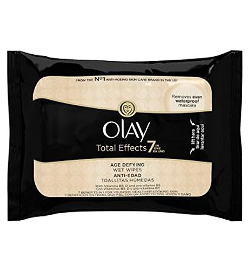 無力ピーブマウントオーレイトータルエフェクト?7In1のウェットティッシュの20代の年齢に挑みます (Olay) (x2) - Olay Total Effects 7in1 Age-Defying Wet Wipes 20s (Pack of 2) [並行輸入品]