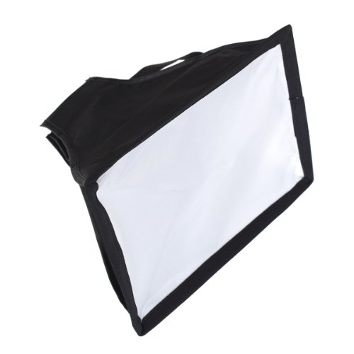 Generic Universal Cloth Flash Bounce Diffuser for Canon Nikon Sony (White_15x17 cm)