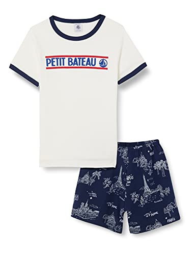 Petit Bateau 5940801 Pajama Set, Medieval/Multico, 5 Ans Boys