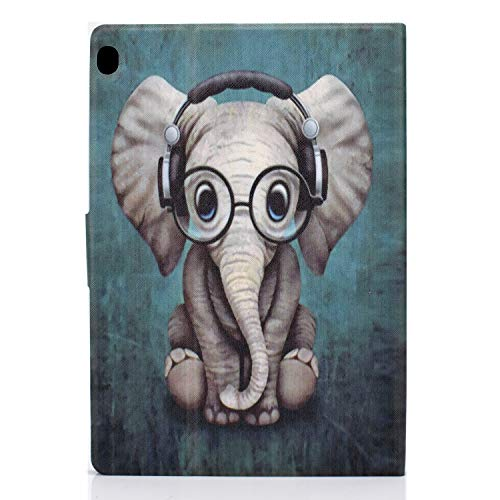 AsWant Lenovo Tab M10 / M10 HD 1. Generation Schutzhülle PU Leder Flip Cover Brieftasche Kartensteckplatz Magnet Tablet Hülle für Lenovo Tab M10 / Lenovo Tab M10 HD - Elefanten Baby
