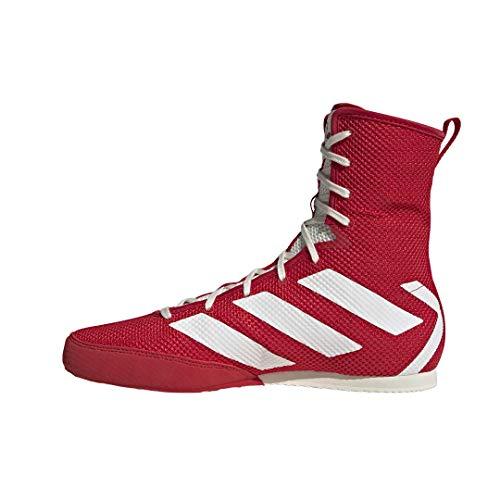 adidas unisex adult Hog 3 Boxing Shoe, Japan Red/Off White/Gold Met., 9.5 US