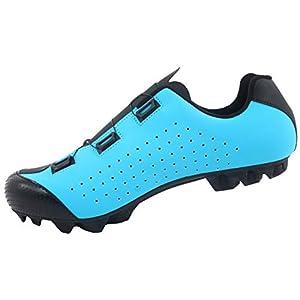 LUCK Zapatilla de Ciclismo MTB Eros con Doble Cierre rotativo de Alta precisión. (44 EU, Azul)