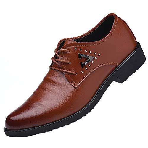 Zapatos Formales para Hombre, Antideslizantes, Transpirables, con Cordones, de Corte bajo, Zapatos...