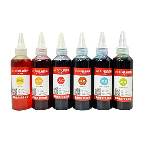 Read About Roorsily 5/6/12 Bottles Fabric Textile Paints Colorful Tie Dying Sets,Dyes Permanent Pain...