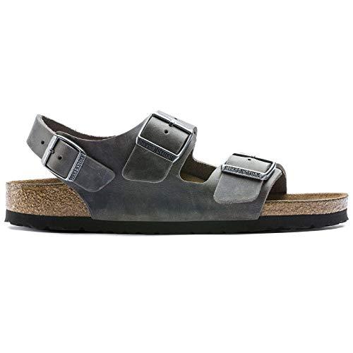 Birkenstock Unisex Milano BS Oiled Nubuck Iron Sandals 11 W / 9 M US