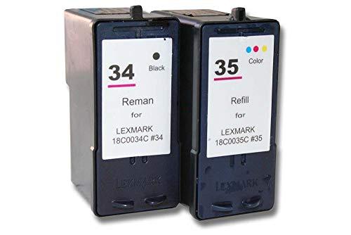 Pack Ahorro Cartuchos de Tinta Reciclado Negro & Color Compatible con LEXMARK 34 & 35