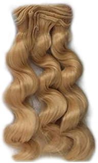 shyymaoyi Peluca de pelo sintético ondulado de 15 cm para decoración de muñecas, accesorios para