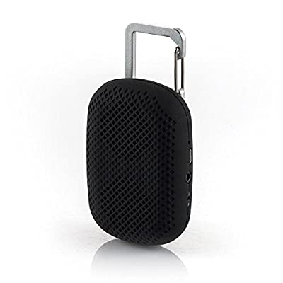 Clip To Go - Powerful Compact Portable Bluetooth Speaker - Black from