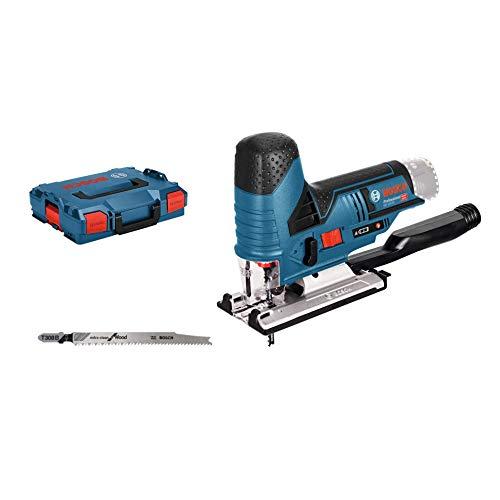 Bosch Professional 0 601 5A1 002 Seghetto Alternativo GST 12V-70, 2 Lame, Pattino, Protezione, profondità di Taglio in Legno: 70 mm, Batterie e Caricabatteria Non Inclusi