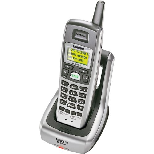 Uniden EXI5660 5.8 GHz Extended Range Cordless Phone with Call Waiting/Caller ID