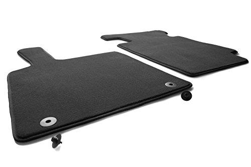 Fortwo 451 Fußmatten (Velours) Automatten Original Qualität 2-teilig vorne schwarz