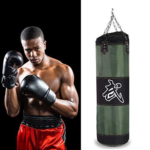 SOONHUA Sandsack zum Aufhängen mit Trainingshaken, Kick-Sandsack für Erwachsene, zum Stressabbau, Boxen, Kampf, Karate, Sandsack-Set (grün-0,8 m)