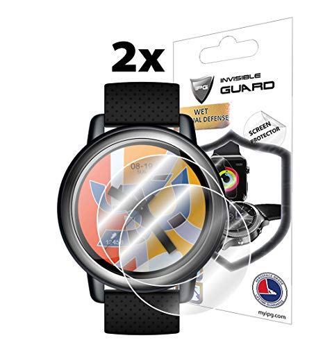 IPG for Lemfo LEM8 Smartwatch Screen Protector (2 Units) Invisible Ultra HD Clear Film Anti Scratch Skin Guard - Smooth/Self-Healing/Bubble -Free by