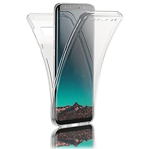 Kaliroo 360° Schutzhülle Klar kompatibel mit Samsung Galaxy S8 Hülle, Transparente Silikon R&um Handyhülle Full-Body Hülle Slim Cover, Dünne Handy-Tasche Phone Etui Vorne und Hinten Komplett-Schutz