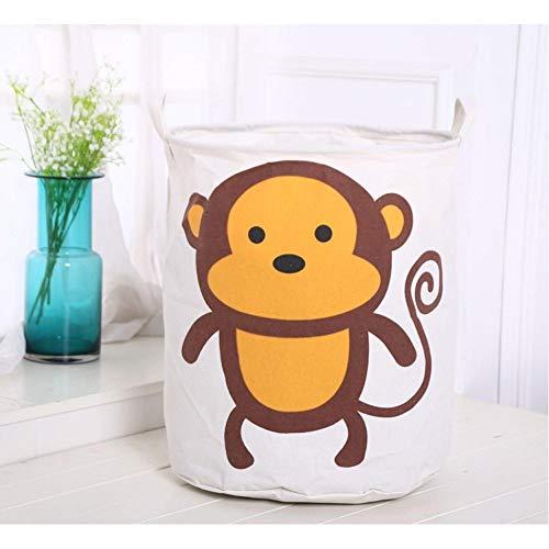 generio Faltbarer Wäschekorb Schmutzige Kleidung Aufbewahrungskorbfür Kinder Spielzeugkorb Kleinigkeiten Aufbewahrungsfass
