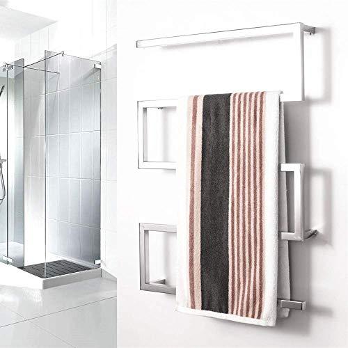 Warme handdoek Warmer, RVS Elektrische verwarmd handdoekenrek, Wall-Mounted plein handdoekdroogrek 35