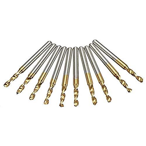 GUOCAO 10 brocas de 3,175 mm con revestimiento de titanio de 2,5 mm