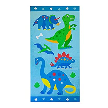 Wildkin Dinosaur Land Kids Beach Towel