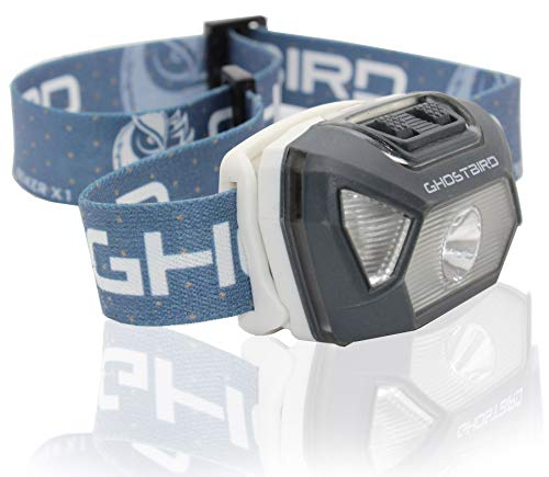 Ghost Bird Seiker X1 Head Lamp - LED Rechargeable Cree XPE - Waterproof IPX7, Freezeproof, Smashproof Perfect for Your Running, Camping, Backpacking, Hunting, and Cycling Adventures