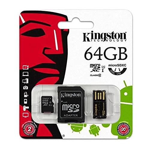 Kingston Micro SDXC 64GB CL10 Multi Kit con 2 adaptadores