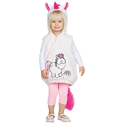 Rubie's Babykostüm Einhorn Hoodie Pullover mit Kapuze Kleinkind-Kostüm Gr. 92/98 Mädchen