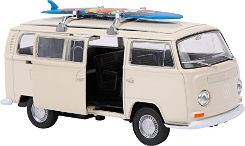 Small Foot 9324 Voiture de collection VWBus T2 + Planche de surf\