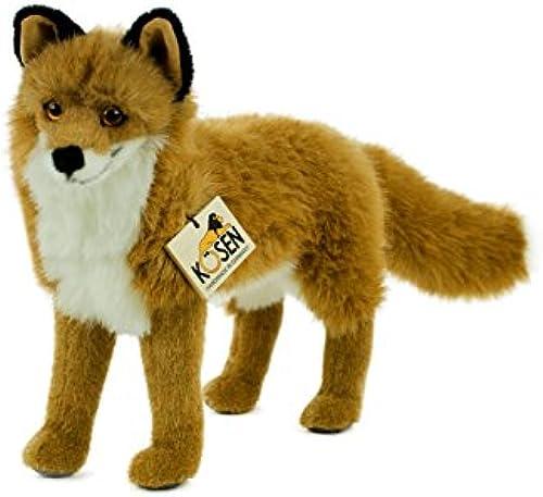 Teddys Rothenburg K n Kuscheltier Fuchs Felix stehend 43 cm rotbraun WeißSchwarzPlüschfuchs
