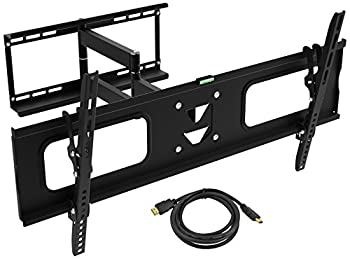 Ematic EMW5206 Universal Full Motion TV Wall Mount Bracket Articulating Swivel Tilt for most 19-80 Inch LED LCD OLED TVs can hold up to 132-Lbs Max VESA 800x 400