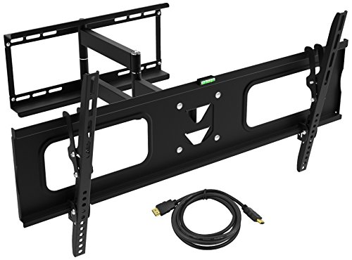 """Ematic Wall Mount - Fits 19""""- 80"""" TV, Tilt, Swivel, Pan, Collapsable, 132 lbs Capacity, Easy Installation"""