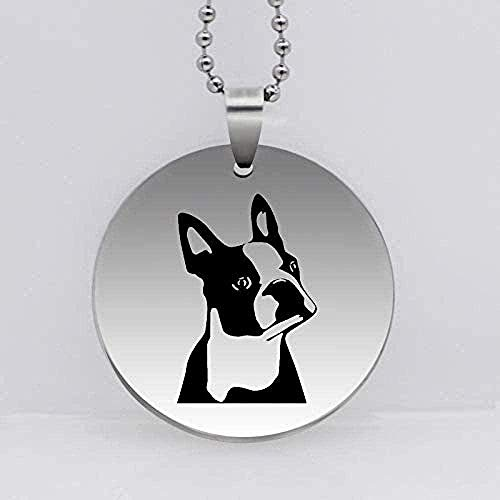 ZPPYMXGZ Co.,ltd Necklace Fashion Stainless Steel Personality Boston Terrier Dog Pendant Necklace Cute Dog Jewelry Gift Drop Shipping