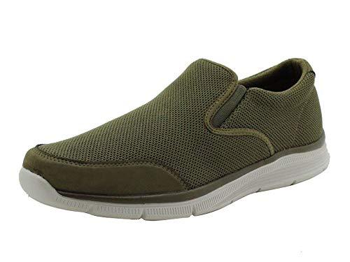 Amazon Essentials Men's Sport Casual Slip On Sneaker, Tan, 8.5 Medium US