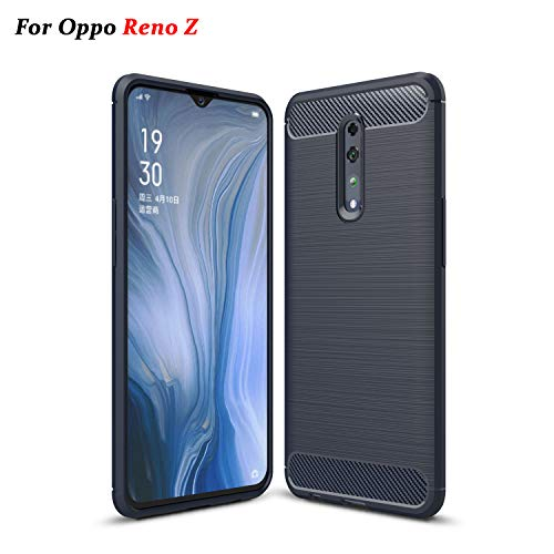 XunEda Oppo Reno Z Case, Ultra Thin Silicone TPU Shockproof Protective Silicone Case Cover Skin for Oppo Reno Z Smartphone(Blue)