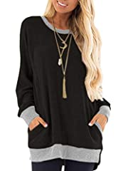 ♥Attention: The cozy ladies tops run small,so please go 1-2 size up.The tops Size Chart is attached in the last picture. And the thin jumper is not a Sweashirt !!! If you any question,feel free to contact us any time!!! ♥The cotton ladies jumper is s...