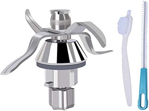 Coltello TM31 compatibile con pezzi di ricambio per macchina da cucina Bimby Vorwerk TM31 con 2 spazzole per la pulizia di Poweka