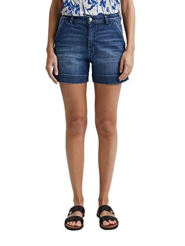 ESPRIT Damen 041EE1C305 Jeans-Shorts, 901/BLUE Dark WASH, 29