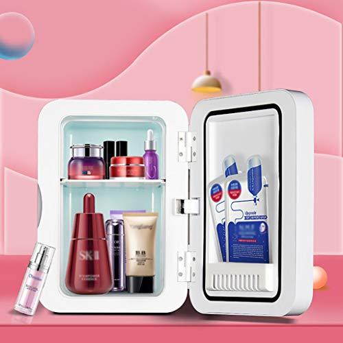Mini-Kühlschrank 8 Liter Kosmetik-Kühlschrank 2-in-1 Make-up-Spiegel Hautpflege-Kühlschrank mit LED-Licht kompakter tragbarer Kühler für Schlafzimmer Büro Wohnheim Auto – ideal Hautpflege und Kosmetik