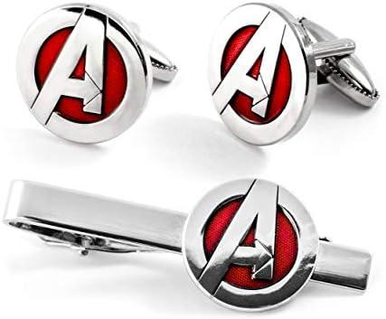 SharedImagination The Avengers Tie Clip Marvel Cufflinks Captain America Tie Tack Jewelry Iron product image