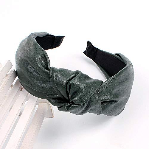 B/H Diadema de Pelo de Satín,Accesorios para el Cabello de Color sólido Simple Paquete de Yoga Diadema de ala ancha-H-2PCS,Cruz Nudo Aro del Pelo