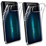 HYMY 2X Funda para ASUS Zenfone 7 Pro ZS671KS (6.67') Protectores - Transparente Clear TPU Silicona Suave Gel Caja Cover Tapa Caso Carcasa Cubierta -Clear