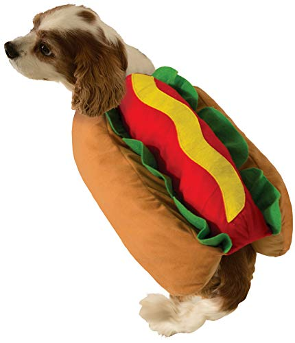 Forum Novelties 75261 Hot Dog Doggie Pet Costume, Small, Pack of 1, Multi-color