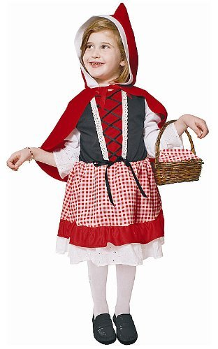 Dress up America Lil' Red Riding Hood Costume Set (L) by Dress up America