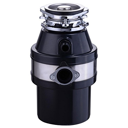 Portable 1 Liter 1 Horsepower 3200 RPM Compact Batch Feed Plug-in Garbage Disposal Kitchen Family Food Waste Disposer Power Electric Safer 110 Volts