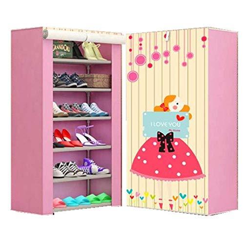 COLiJOL Armario Zapatero No Tejido Gabinete para Zapatos de 4 Capas Combinación de Múltiples Capas Estante para Zapatos Combinación para el Hogar (Color: A, Tamaño: 57X27X106Cm),a,Los 57X27X106Cm